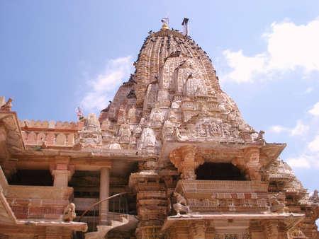 A side view of the shamlaji temple in gujarat photo