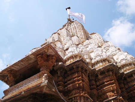 dome of shamlaji with white silk flag photo