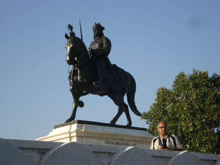 Statue of Maharana Pratap Singh Stock Photo