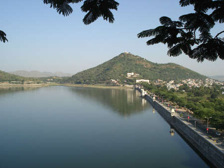 A birds eye view of Udaipur Stock Photo