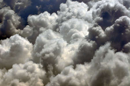 Monsoon clouds seen from an aeroplane Stock Photo