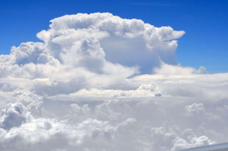 An aerial view of clouds Stock Photo