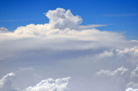 Monsoon clouds from air Stock Photo