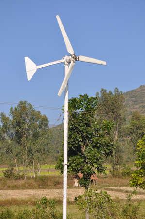 A small wind turbine