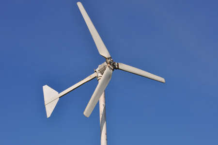 pollution free: Wind energy Stock Photo