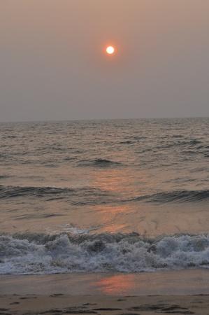 Sun set at the beach Stock Photo
