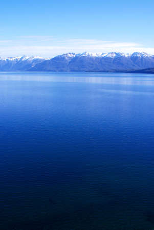 Blue Lake and Mountains in Patagonia photo