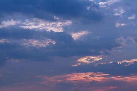 hereafter: Sky at nightfall. Stock Photo