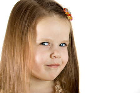 Little smiling girl look in to camera, close-up Stock Photo - 792366