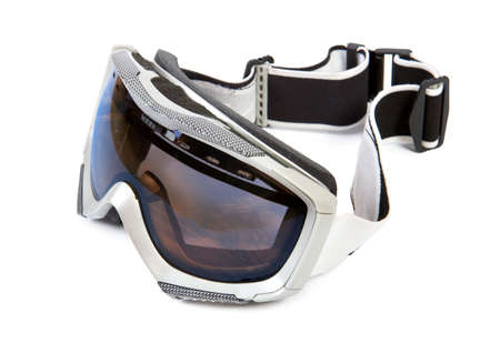 Winter sport glasses. Isolate on white baskground. Stock Photo