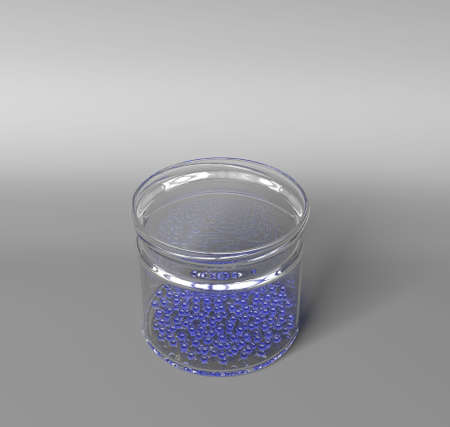 refractions: Bank with glass balls