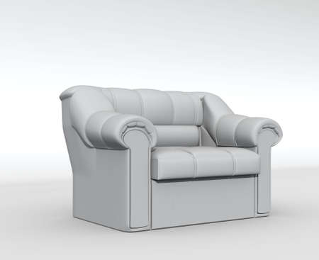 isolated white armchair