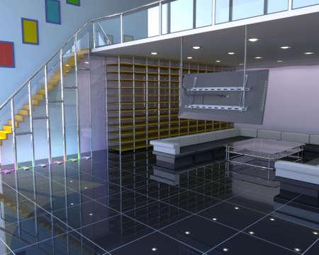 Modern interior Stock Photo - 3002992