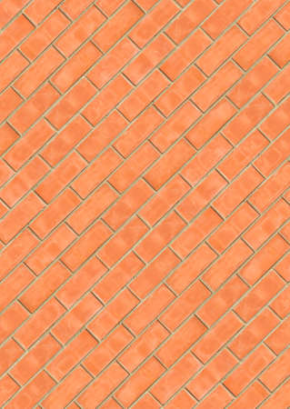 Diagonal brickwork seamless texture photo