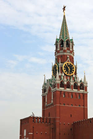 communists: Kremlin tower, Red Square, Moscow