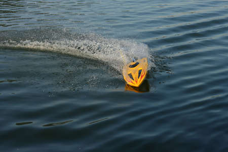 controlled: Remote controlled boat in the competition