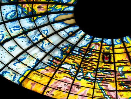 glass ceiling: Stained glass ceiling