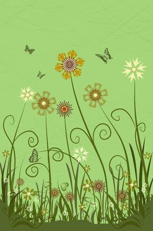 Spring flowersAbstract flower background