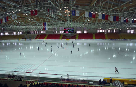 bandy: Bandy in new Ice Stadium. Moscow