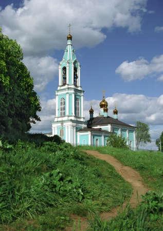 high altar: Church in Krylatskoe. Moscow Stock Photo