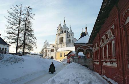 sotana: Hombre del monasterio cercano a Mosc�, ciudad Zvenigorod