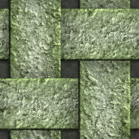 interlace: Corroded square vent - seamless background Stock Photo