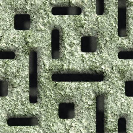 vent: Corroded square vent - seamless background Stock Photo