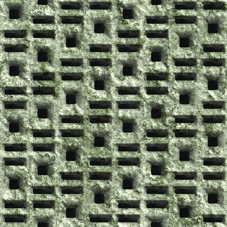Corroded square vent - seamless background Stock Photo - 20813140