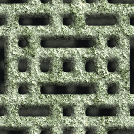 Corroded square vent - seamless background Stock Photo - 20813144