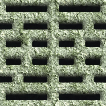 Corroded square vent - seamless background Stock Photo - 20813423