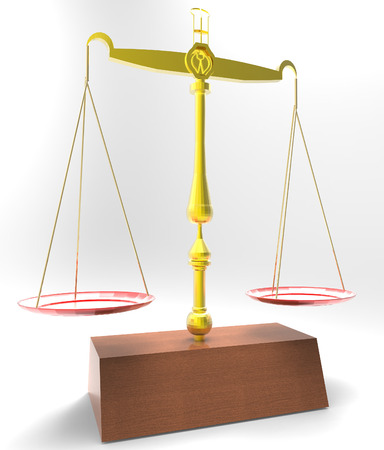 scale of justice: Scale of justice - isolated on white background