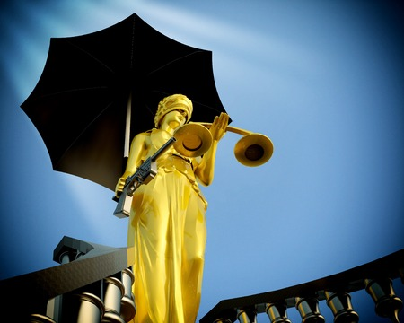 Steps to justice - Lady of Justice is waiting to kill photo