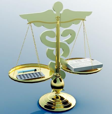 Conceptual idea of justice in medicine Stock Photo - 23335277