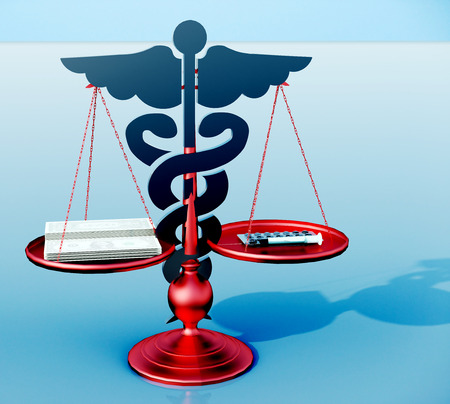 Conceptual idea of justice in medicine Stock Photo - 23362286