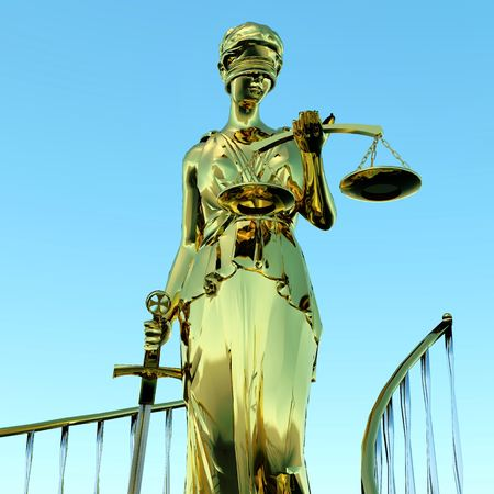 Steps to justice - Lady of Justice is waiting to judge photo
