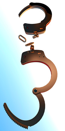 Freedom concept - handcuffs are gone photo
