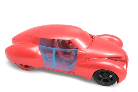 Generic and futurist   model of car photo