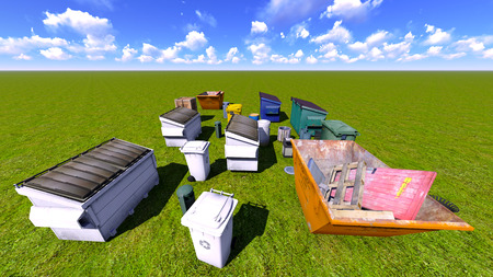 Dumpsters and skips on the grss photo