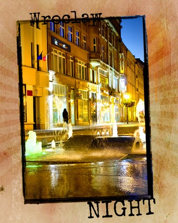 Wroclaw nightlife in summer time, Poland photo