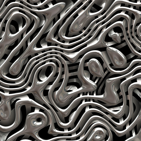 futuristic background: Weaving metal structure abstract background Stock Photo