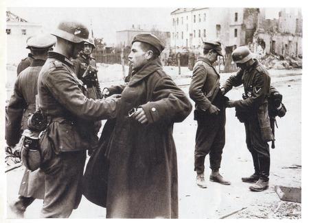 German troops disarming Soviet soldiers in Berlin during Second World War