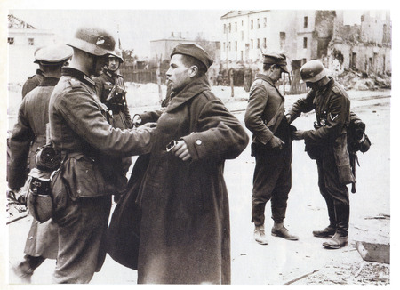 30 34 year old: German troops disarming Soviet soldiers in Berlin during Second World War
