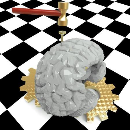splitting headache: Hitting the nail on the head with cogwheels