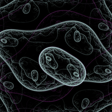 Bacteria under microscope photo