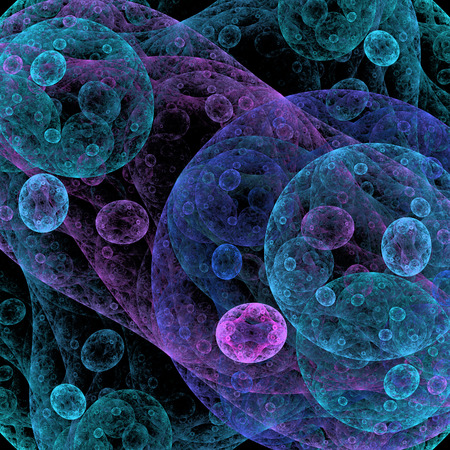 epidemiology: Symmetrical growth of bacteria Stock Photo