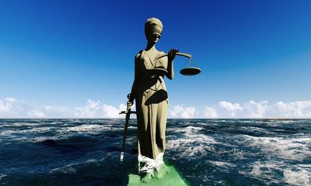 estatua de la justicia: Se�ora de justicia