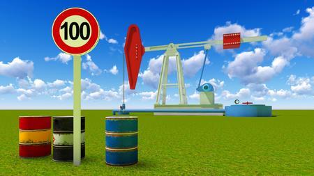 one hundred dollars: One hundred dollars a barrel