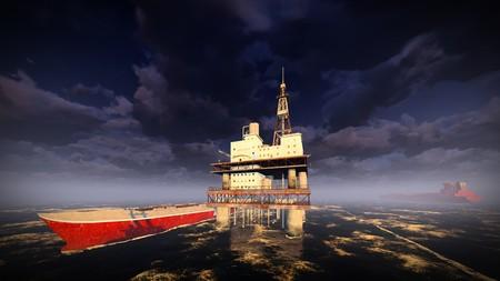 torre de perforacion petrolera: Aceite de plataforma plataforma