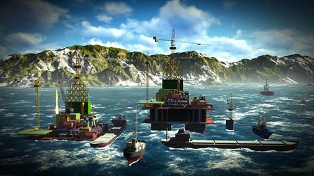 oilwell: Oil rig  platform