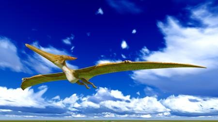 Flying pterodactyl photo